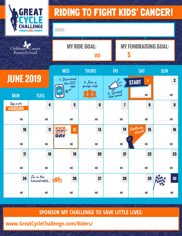 Gcc Calendar.Great Cycle Challenge Usa Fundraising Posters And Resources