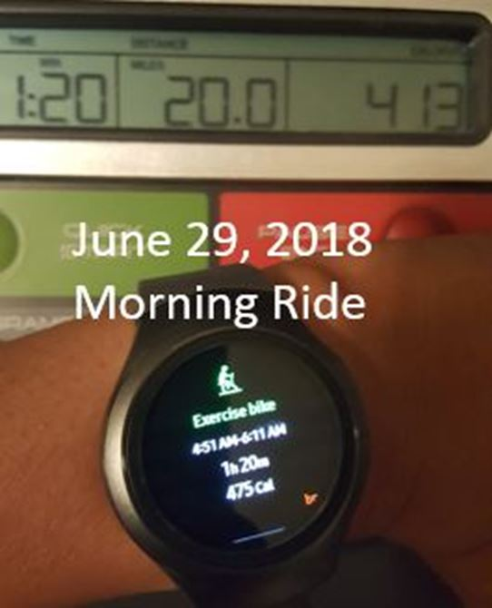 Day 29:  20 Miles (Early Morning Ride)