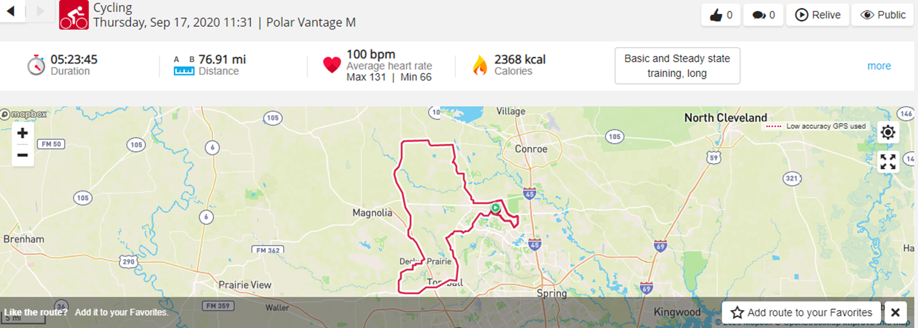 September 17th Ride