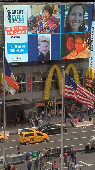 My Mom featured on Times Square, New York.