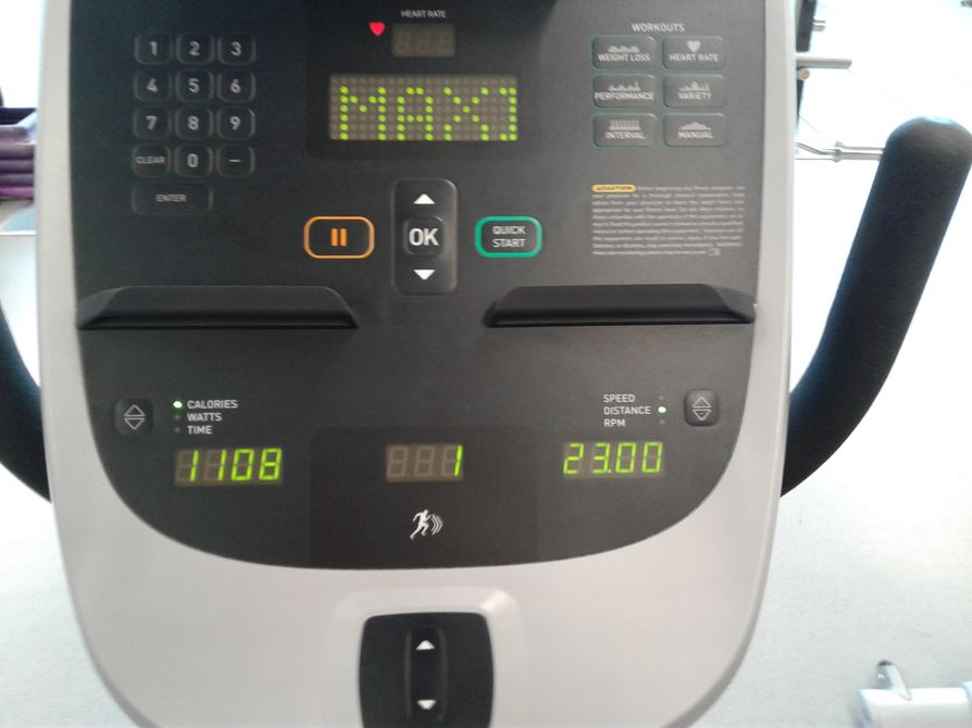 1,100 calories and 23 miles in an hour.  Is 1,200 in reach?
